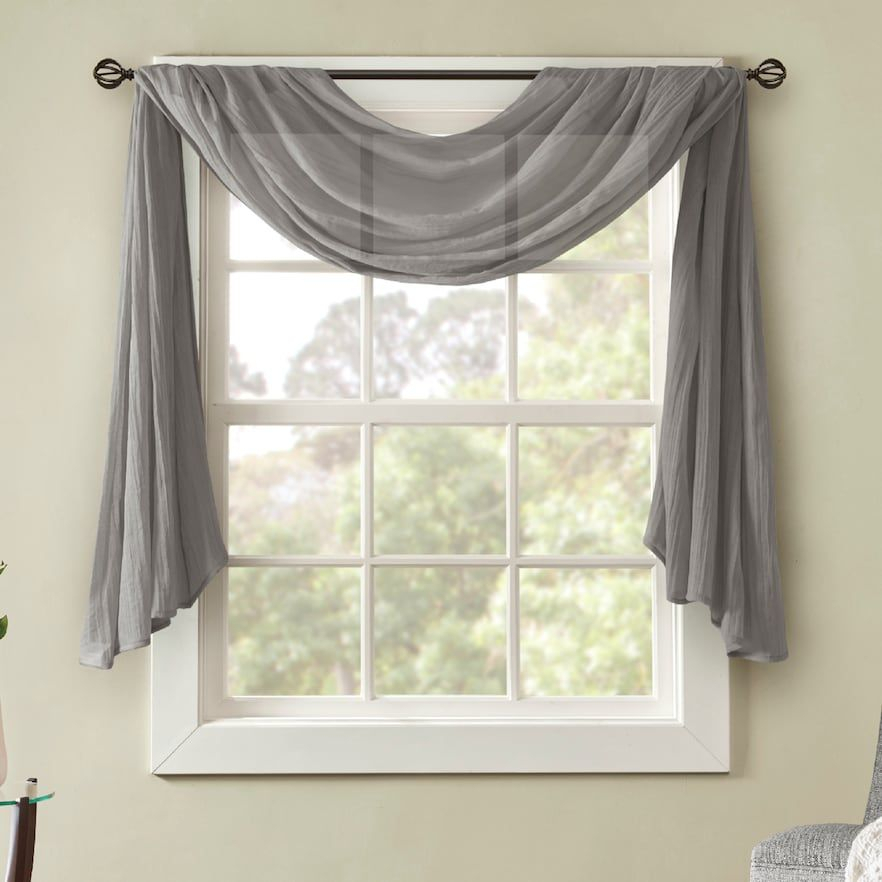 Popular Photo of Kaylee Solid Crushed Sheer Window Curtain Pairs