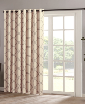 Madison Home Usa Saratoga 100 X 84 Fretwork Print Grommet Within Fretwork Print Pattern Single Curtain Panels (View 5 of 46)
