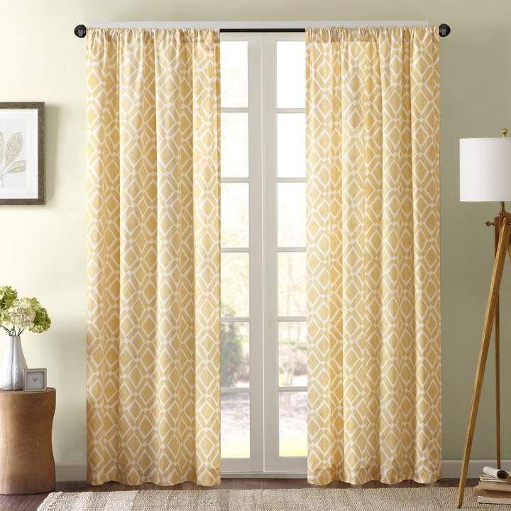 Madison Park 1 Panel Ella Window Curtain | Products In 2019 Throughout Ella Window Curtain Panels (View 27 of 50)