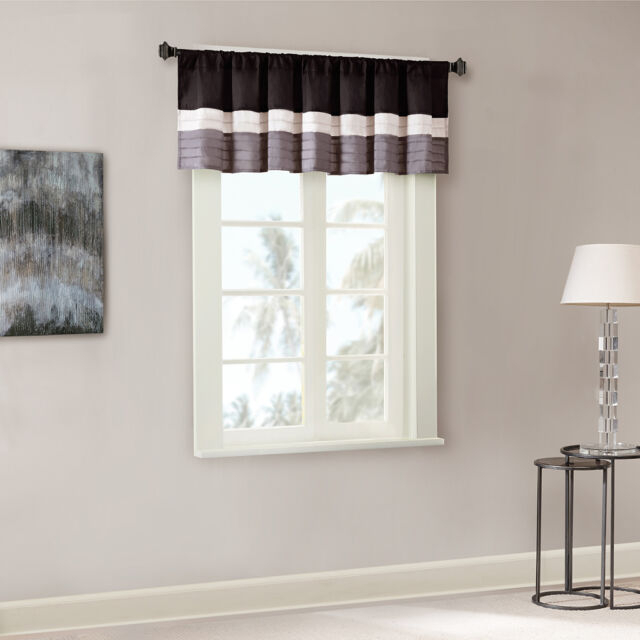 Madison Park Amherst Polyoni Pintuck Window Valance For Chester Polyoni Pintuck Curtain Panels (#13 of 26)