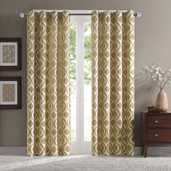 Madison Park Bergamo Ogee Chenille Curtain Panel Shopping On Intended For Chester Polyoni Pintuck Curtain Panels (#14 of 26)