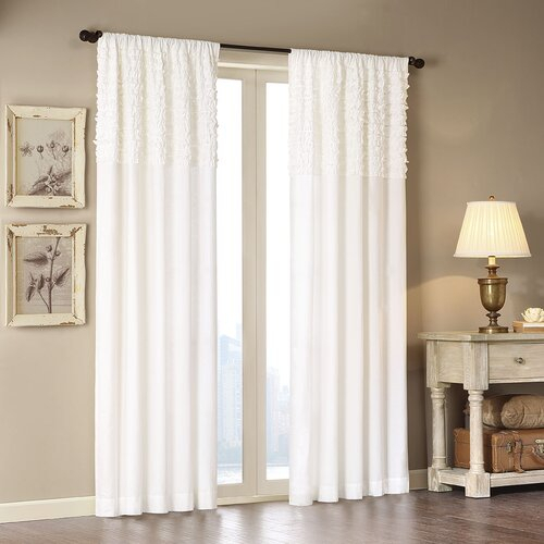 Madison Park Bessie Single Drape Curtain Panel On Popscreen With Regard To Chester Polyoni Pintuck Curtain Panels (#15 of 26)