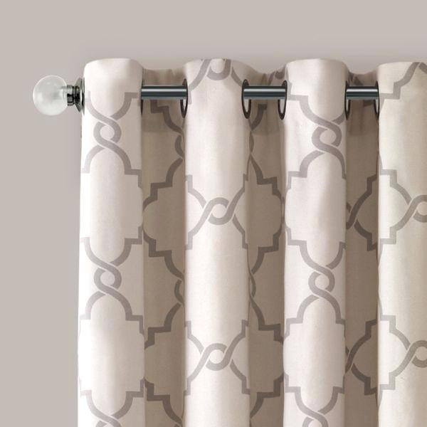Madison Park Curtain Panels – Heizanstrich Within Ruffle Diamond Curtain Panel Pairs (View 34 of 50)