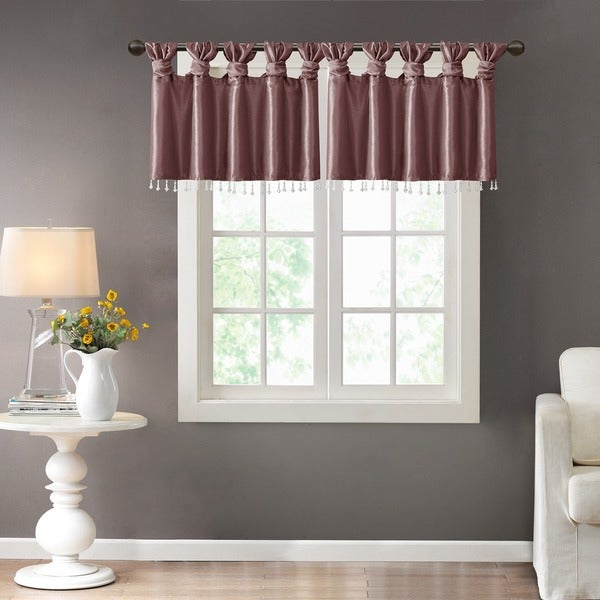 Madison Park Curtains And Valances | Flisol Home Throughout Essentials Almaden Fretwork Printed Grommet Top Curtain Panel Pairs (#21 of 38)