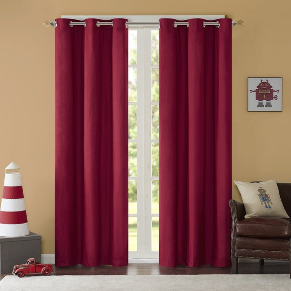 Madison Park Essentials Almaden Printed Fret Grommet Top In Essentials Almaden Fretwork Printed Grommet Top Curtain Panel Pairs (#24 of 38)