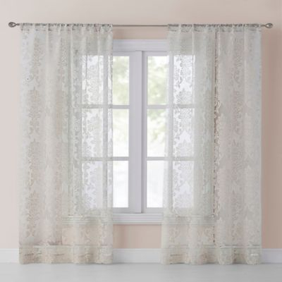 Madison Park Kaylee Solid Crushed Sheer Window Curtain Pair Intended For Kaylee Solid Crushed Sheer Window Curtain Pairs (#24 of 40)
