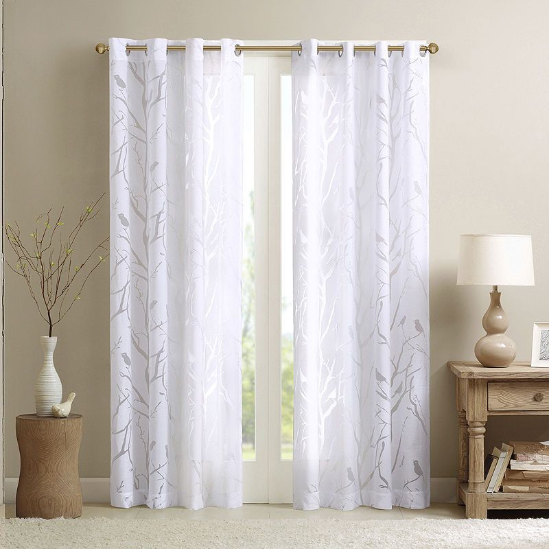 Popular Photo of Vina Sheer Bird Single Curtain Panels
