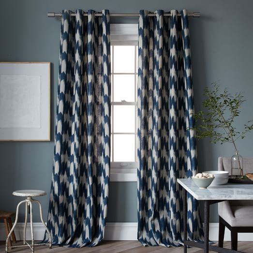 Magnificent Grey Ikat Curtains Designs With Ink Ivy Ankara Within Ink Ivy Ankara Cotton Printed Single Curtain Panels (View 34 of 50)