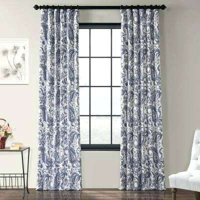 Magnificent Ikat Drapes Navy Fabric Ideas Print Curtains With Regard To Ikat Blue Printed Cotton Curtain Panels (#32 of 50)