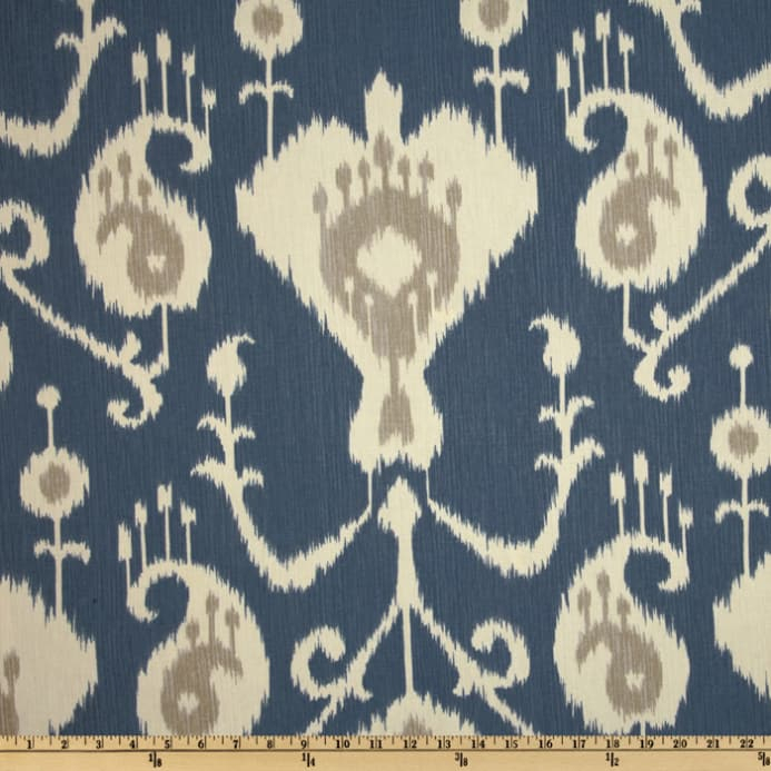 Magnolia Home Fashions Java Ikat Yacht Blue In Ikat Blue Printed Cotton Curtain Panels (#35 of 50)