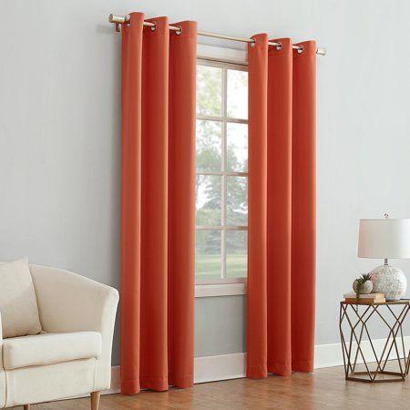 Mainstays Blackout Energy Efficient Grommet Single Curtain For Hayden Grommet Blackout Single Curtain Panels (View 21 of 39)