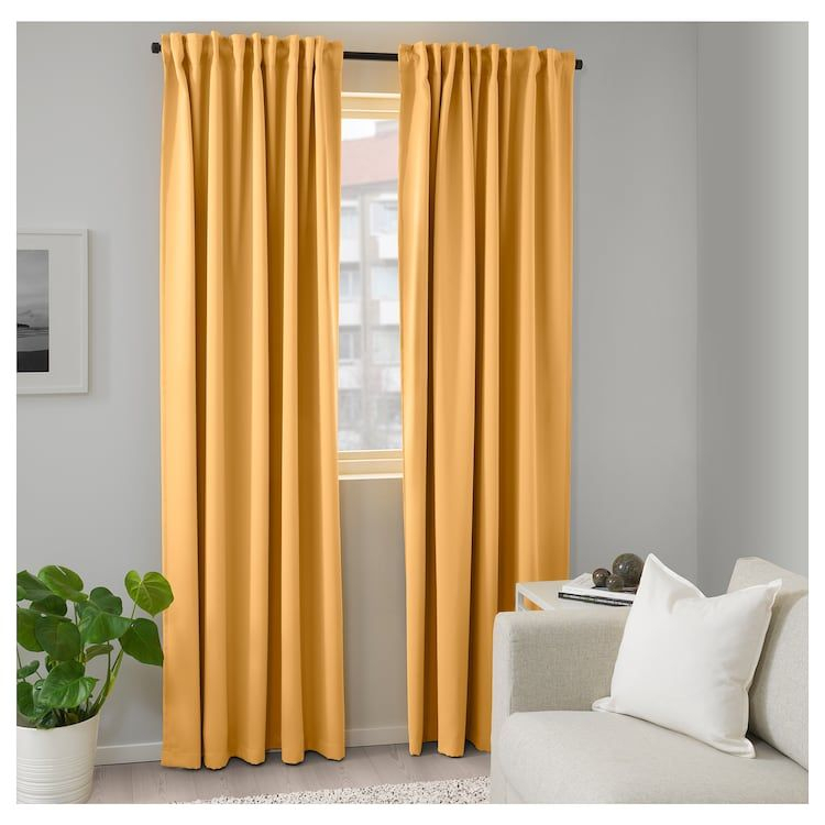 Majgull Room Darkening Curtains, 1 Pair – Ikea Pertaining To Copper Grove Speedwell Grommet Window Curtain Panels (#22 of 50)