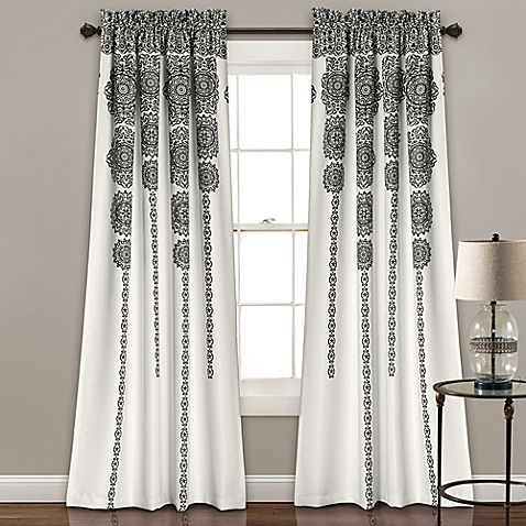 Make Your Window As Beautiful As Artwork With The Lush Décor With Regard To Wilshire Burnout Grommet Top Curtain Panel Pairs (#35 of 45)