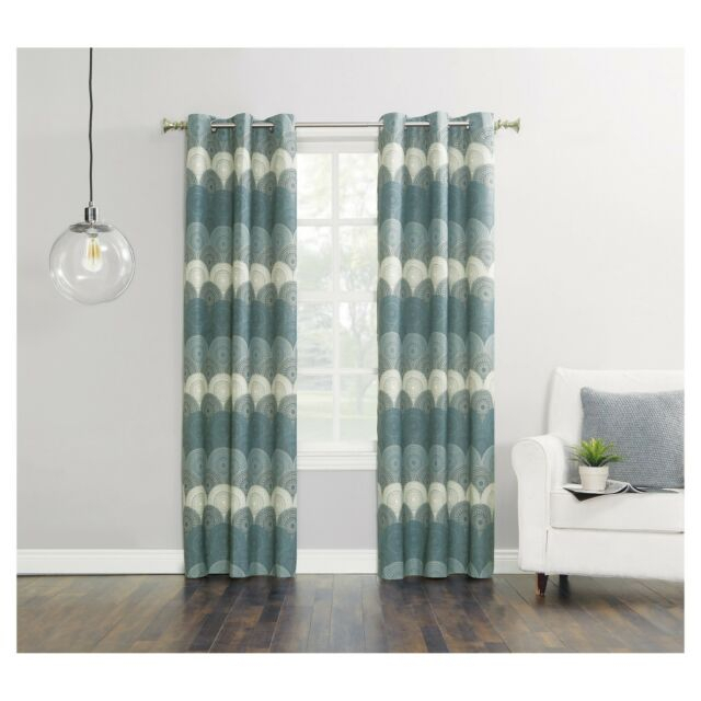 """Malta Thermal Lined Room Darkening Curtain Panelsun Zero Size 40"""" X 84""""  Navy Intended For Easton Thermal Woven Blackout Grommet Top Curtain Panel Pairs (#35 of 44)"""