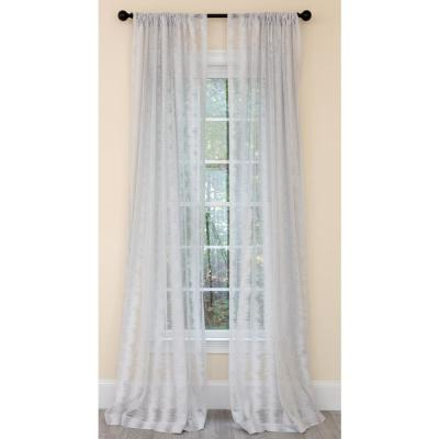 Manor Luxe Bonita Diamond Embroidered Sheer Rod Pocket Throughout Single Curtain Panels (View 22 of 36)