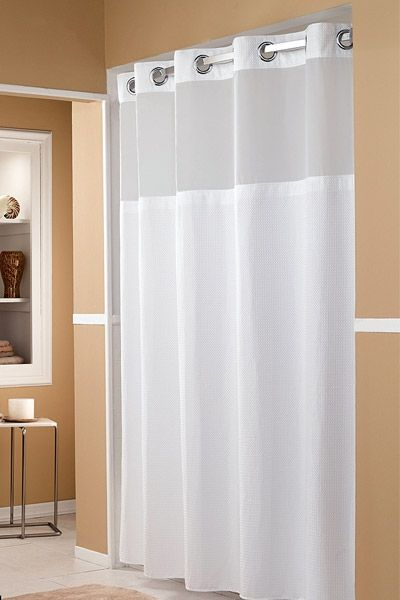 Marriott Shower Curtain In 2019 | Hookless Shower Curtain With Regard To Classic Hotel Quality Water Resistant Fabric Curtains Set With Tiebacks (#22 of 50)