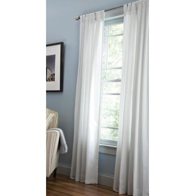 Martha Stewart Living Classic Cotton Light Filtering Window Inside Light Filtering Sheer Single Curtain Panels (#20 of 38)