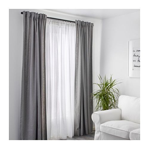 Matilda Sheer Curtains, 1 Pair – White | Curtains With With Regard To Double Layer Sheer White Single Curtain Panels (View 32 of 50)