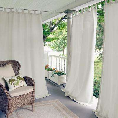 Matine Solid Tab Top Indoor/outdoor Window Curtain Intended For Elrene Jolie Tie Top Curtain Panels (#17 of 35)