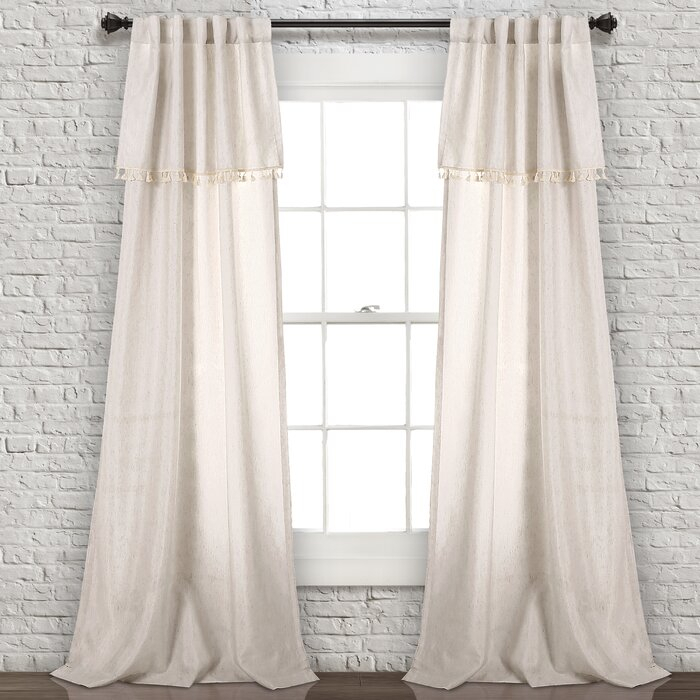 Maxwell Solid Semi Sheer Rod Pocket Curtain Panels For Double Layer Sheer White Single Curtain Panels (View 33 of 50)
