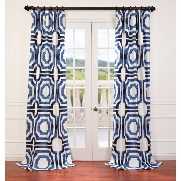 Mecca Printed Cotton Curtain Panel – Overstock™ Shopping Inside Mecca Printed Cotton Single Curtain Panels (View 21 of 50)