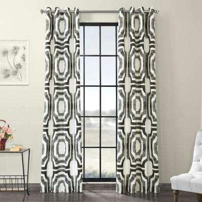 Mecca Steel Gray Grommet Room Darkening Printed Cotton Curtain – 50 In. W X 96 In (View 43 of 50)
