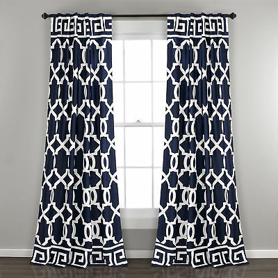Mercer41 Schum Geometric Room Darkening Indoor/outdoor Rod Pocket Panel  Pair 192437365071 | Ebay Within Nantahala Rod Pocket Room Darkening Patio Door Single Curtain Panels (#26 of 50)