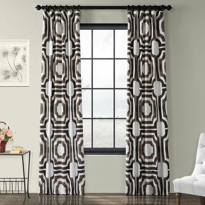 Mercury Row Donato Geometric Printed Cotton Room Darkening Pertaining To Geometric Linen Room Darkening Window Curtains (View 32 of 50)