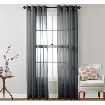 Mercury Row Highlawn Solid Sheer Grommet Curtain Panels With Luxury Collection Monte Carlo Sheer Curtain Panel Pairs (#17 of 29)