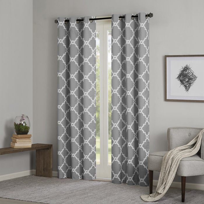 Merritt Eyelet Room Darkening Curtains | Dream House In The Curated Nomad Duane Jacquard Grommet Top Curtain Panel Pairs (#18 of 50)