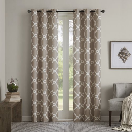 Merritt Eyelet Room Darkening Curtains Madison Park Size Per In The Curated Nomad Duane Jacquard Grommet Top Curtain Panel Pairs (#17 of 50)