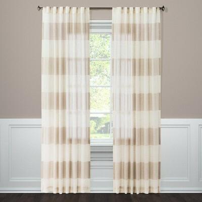 Metallic Curtain Panels – V9Oj Pertaining To Elegant Comfort Luxury Penelopie Jacquard Window Curtain Panel Pairs (View 42 of 50)