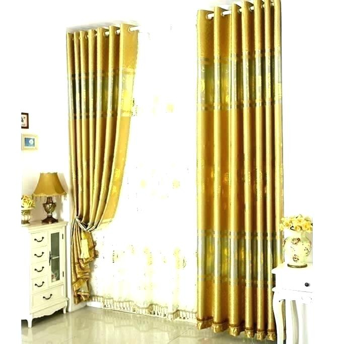 Metallic Gold Curtains – Nathanaelmerrit (View 32 of 50)