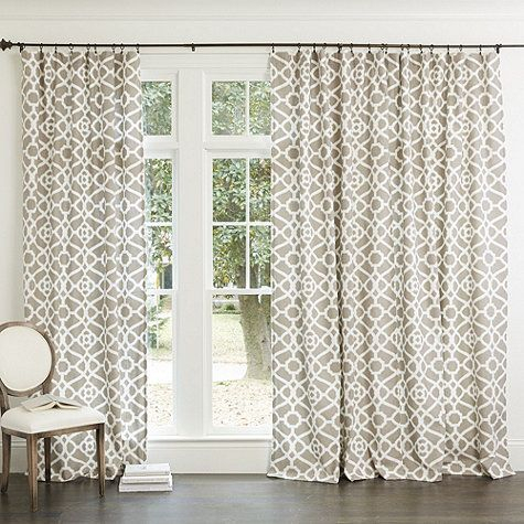 Meyers Drapery Panel In 2019 | New House | Drapery Panels With Fretwork Print Pattern Single Curtain Panels (View 15 of 46)