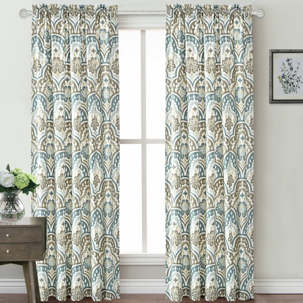 Microfiber Curtains | Wayfair Within Kaylee Solid Crushed Sheer Window Curtain Pairs (#25 of 40)