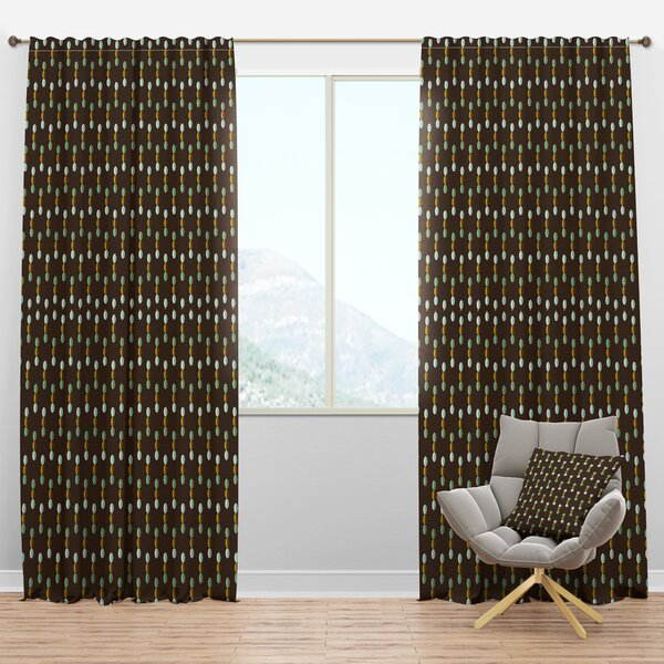Mid Century Mod Curtains | Wayfair Intended For Mid Century Geo Room Darkening Window Curtain Panel Pairs (View 12 of 43)
