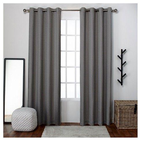 Mid Century Modern Exclusive Home Loha Linen Window Curtain Regarding Sugar Creek Grommet Top Loha Linen Window Curtain Panel Pairs (View 13 of 50)