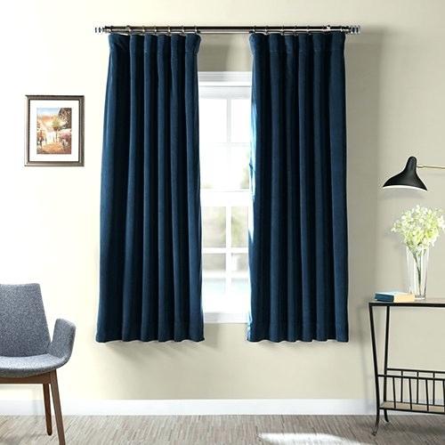Midnight Blue Curtains – Zarafa Pertaining To Signature Blackout Velvet Curtains (#22 of 50)