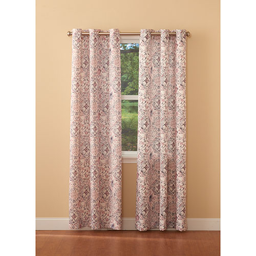 Mila Floral Fretwork Print Grommet Curtain Panel With Regard To Fretwork Print Pattern Single Curtain Panels (View 9 of 46)