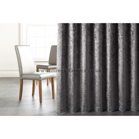 Milano Blackout Fr Crushed Velvet Curtains 10 Colours Available Intended For Warm Black Velvet Single Blackout Curtain Panels (#23 of 48)