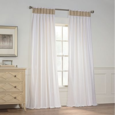 """Milena 84"""" Pinch Pleat Window Curtain Panel In White Within The Gray Barn Kind Koala Curtain Panel Pairs (View 4 of 50)"""