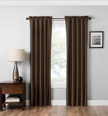 """Miles Thermaback Absolute Zero Blackout Curtain Paneleclipse 42""""x 84""""  Chocol 