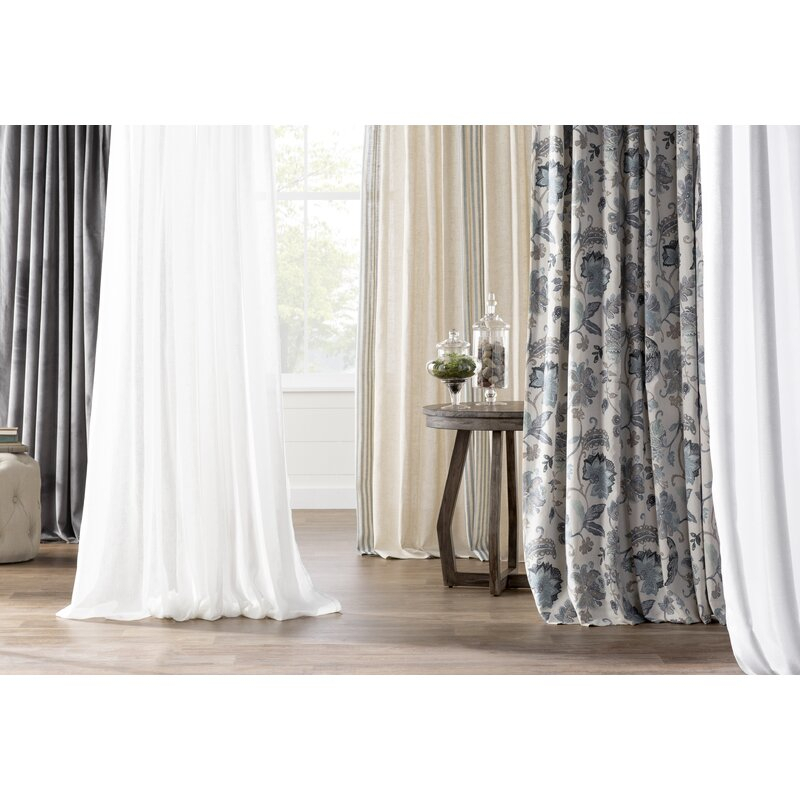 Millie Twist Faux Linen Solid Sheer Tab Top Curtain Panels Pertaining To Knotted Tab Top Window Curtain Panel Pairs (#23 of 50)