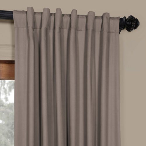 Millstone Gray 50 X 108 Inch Solid Cotton Blackout Curtain Regarding Solid Cotton True Blackout Curtain Panels (#28 of 50)