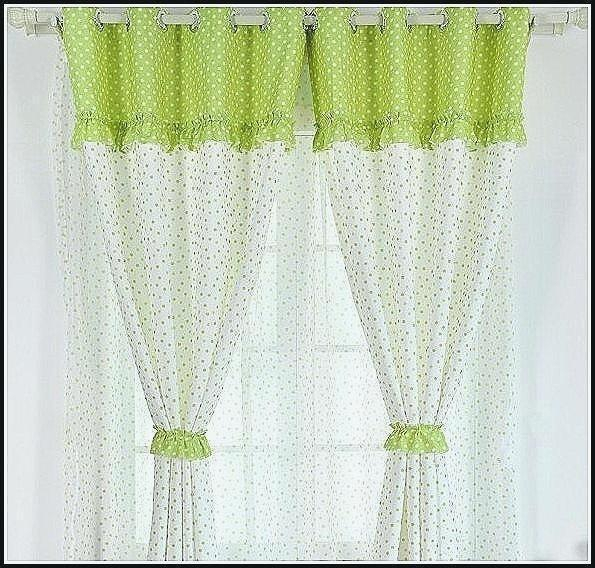 Minimalist Concept White Curtains With Gold Polka Dots Inside Star Punch Tulle Overlay Blackout Curtain Panel Pairs (#33 of 50)
