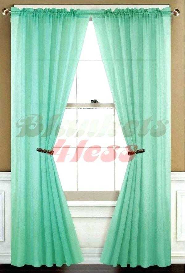 Mint Sheer Curtains Green Curtain Panels Best Home Fashion Intended For Mix And Match Blackout Tulle Lace Sheer Curtain Panel Sets (#41 of 50)