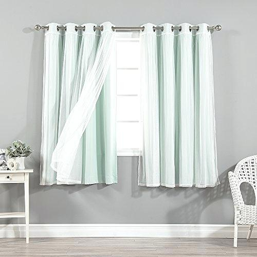Mint Sheer Curtains Green Curtain Panels Best Home Fashion With Regard To Mix And Match Blackout Blackout Curtains Panel Sets (#37 of 50)