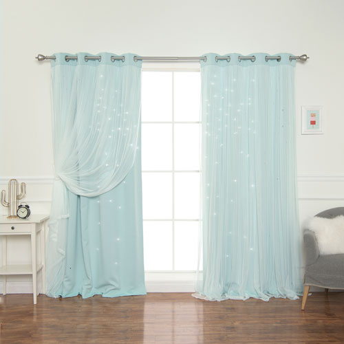 Mint Tulle Overlay Star Cut Out 84 X 52 In (#34 of 50)