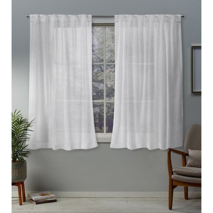 Mirfield Solid Color Sheer Grommet Curtain Panels With Regard To Luxury Collection Venetian Sheer Curtain Panel Pairs (#28 of 36)