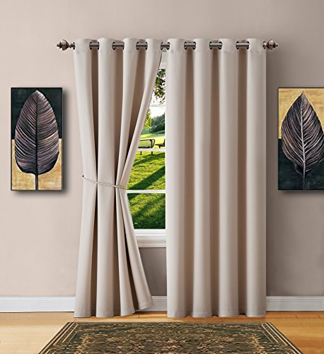 Mix & Match Curtain Set For Living Room – Ryb Home Blackout In Mix And Match Blackout Blackout Curtains Panel Sets (#38 of 50)